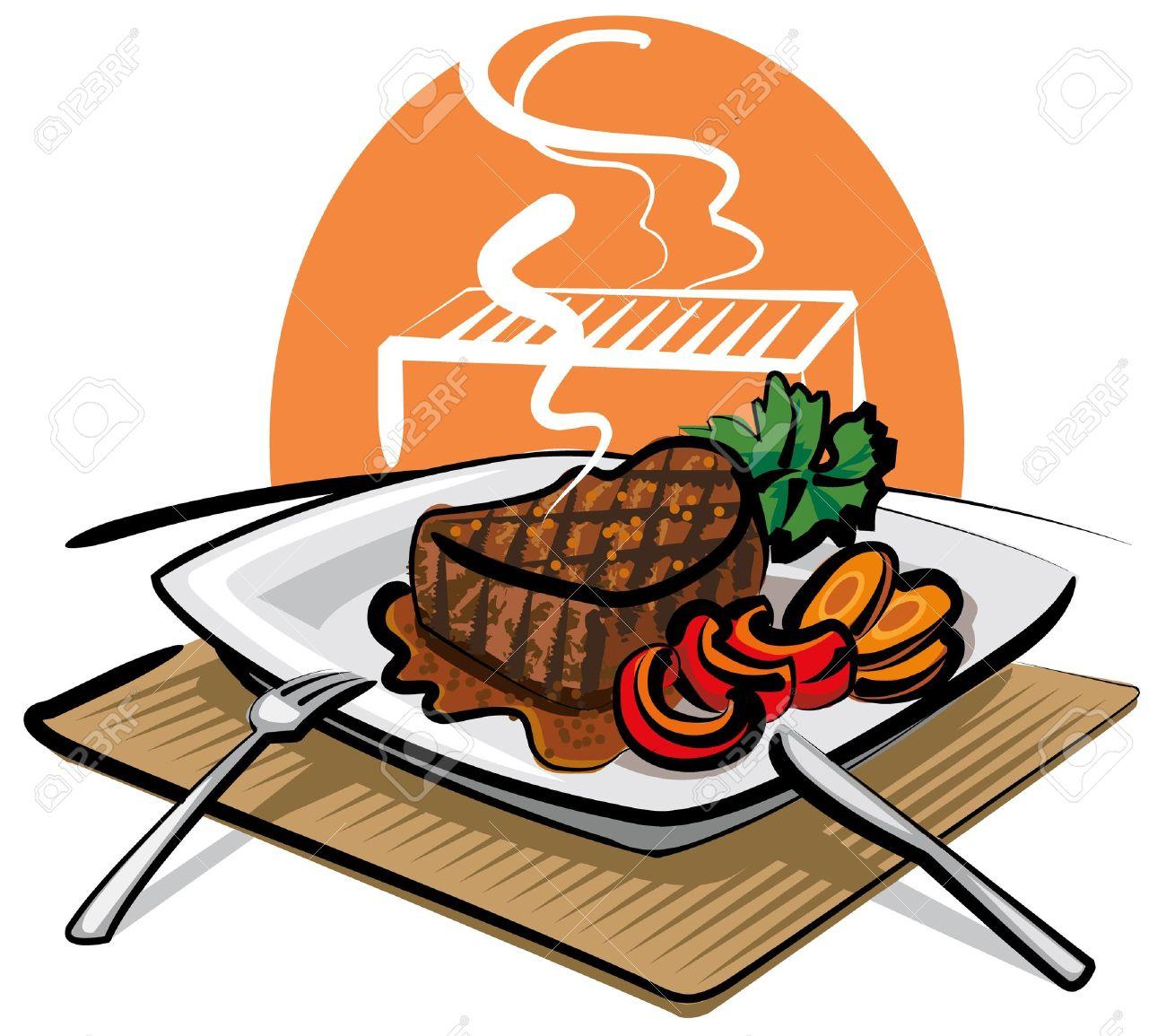 Vector - grilled beef steak