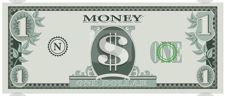 Vector Illustration Of Game Dollar Bill Stock Vector Clipart Vector