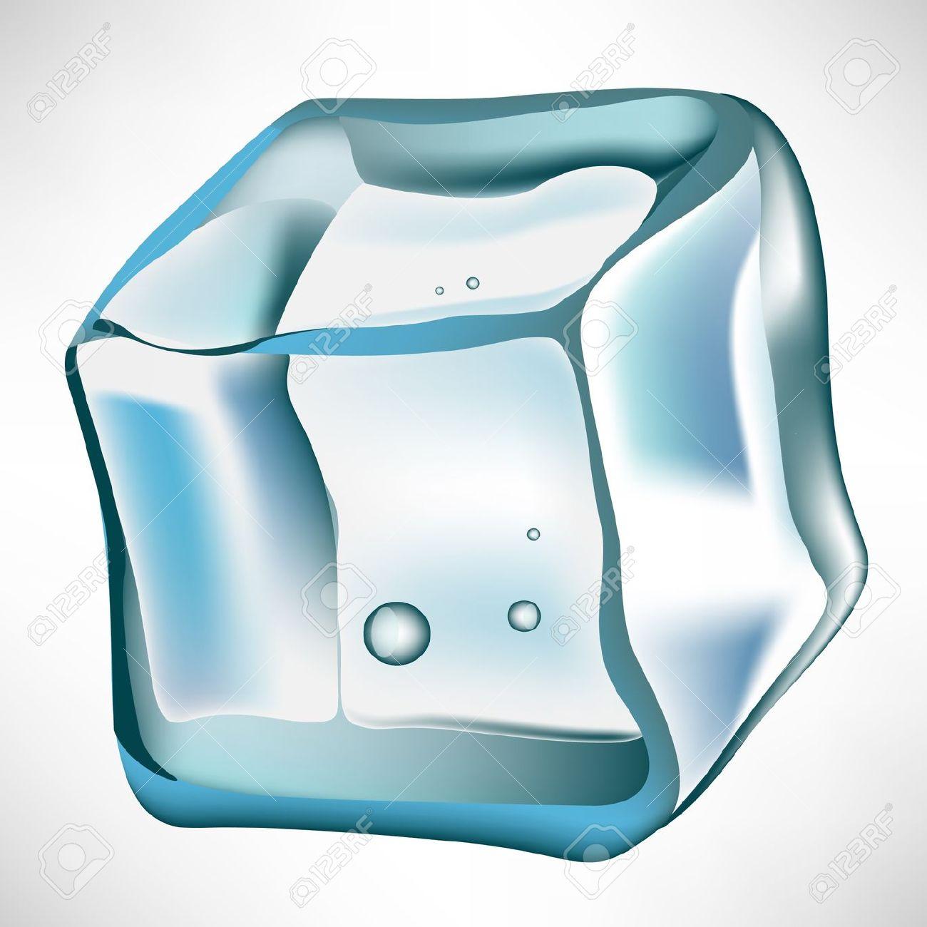 Vector - simple ice cube .