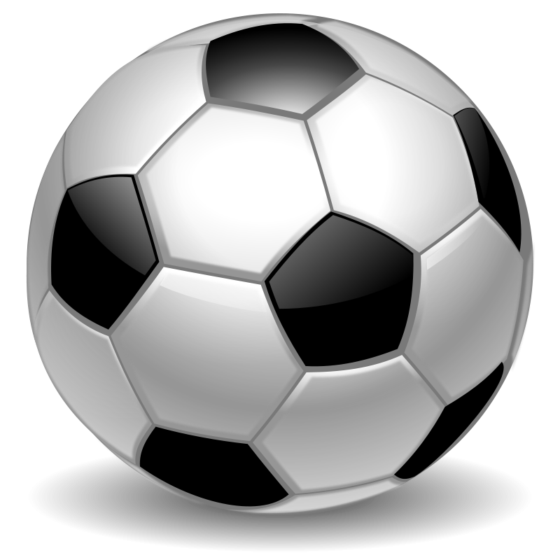 Vector soccer ball clip art .