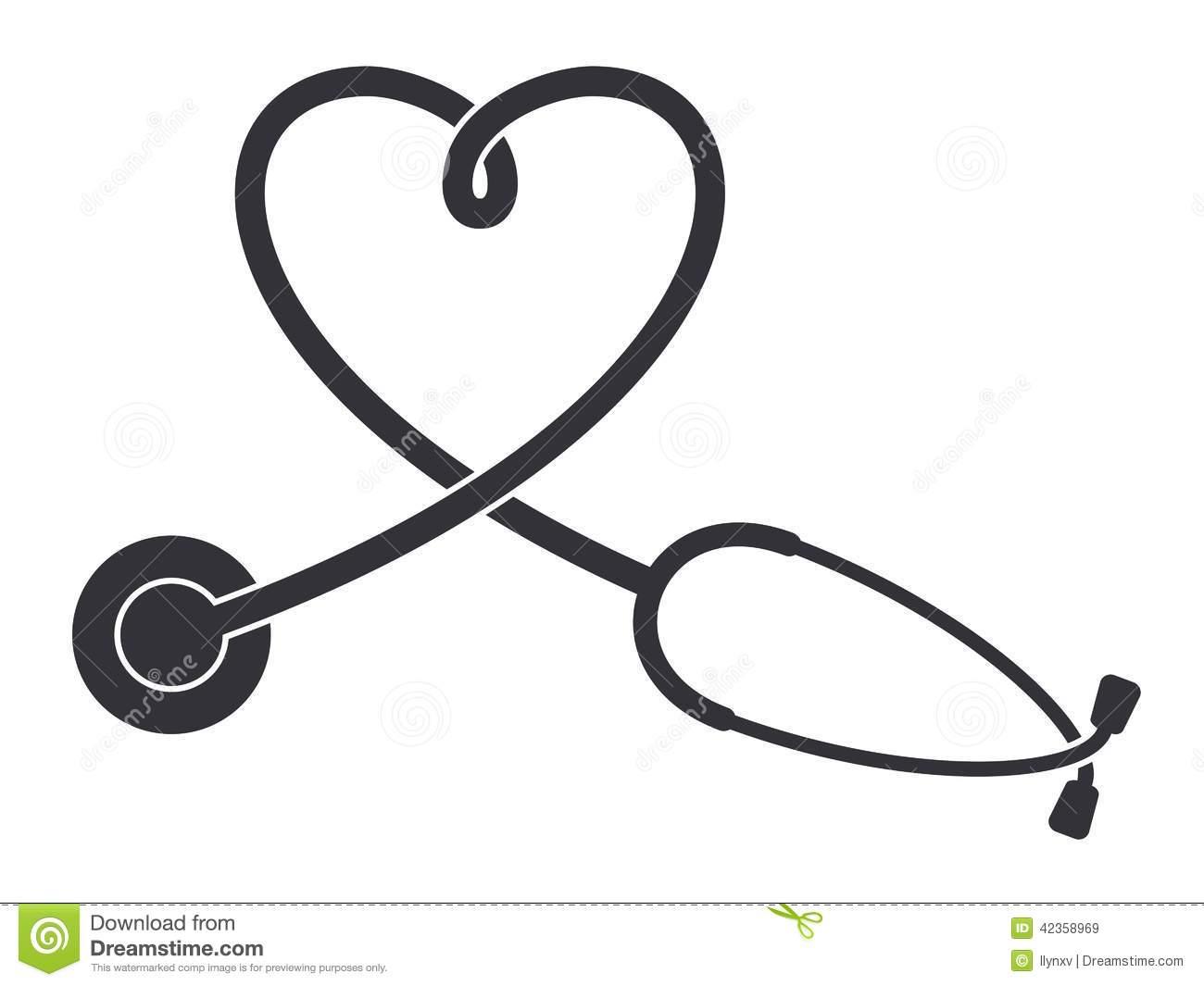 Vector Stethoscope Pictogram .