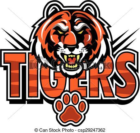 Vector - tigers mascot design