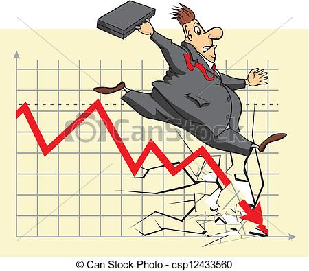 Vector - unhappy stock market investor