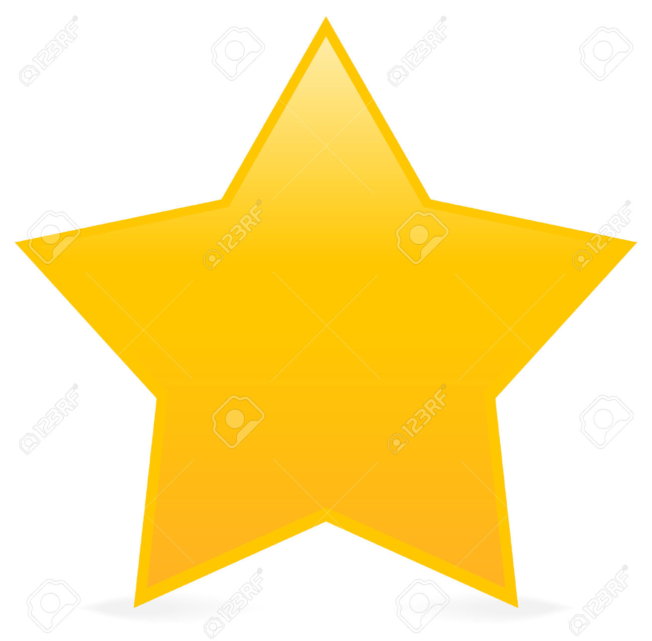 Vector - Yellow star isolated .