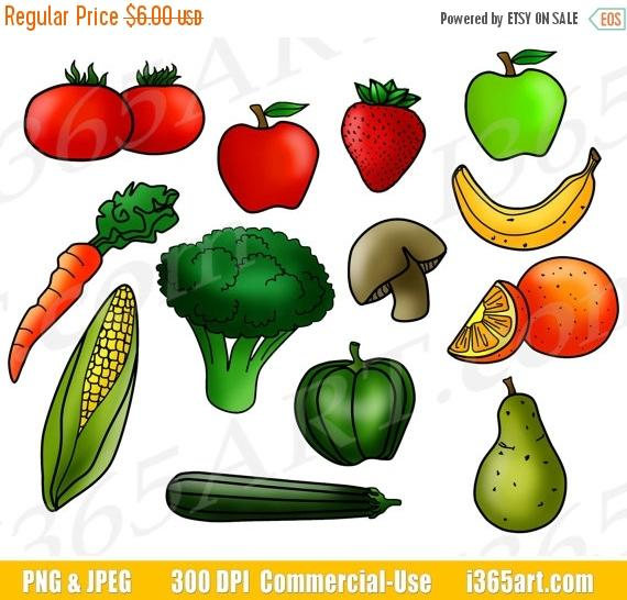 50% OFF Fruits and Vegetables Clipart, Fruit Clip Art, Vegetable Clip Art,  Digital Graphics, Food Groups, Printable, PNG, Commercial from I365Art on  Etsy hdclipartall.com