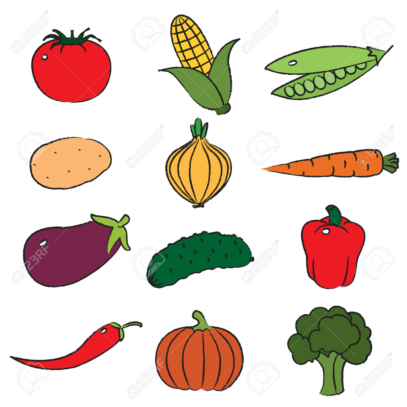 vegetables clip art #7