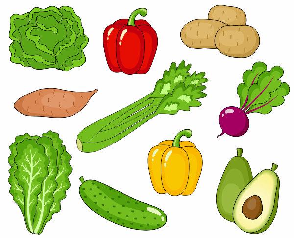 Vegetables Clip Art, Cute Veggies Clipart, Digital Clip Art, Avocado, Potato, Pepper, Beet, Cucumber - Instant Download - YDC019
