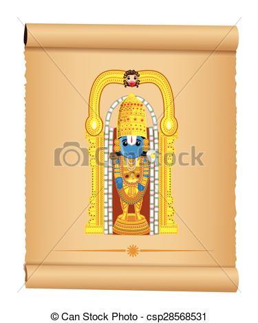 Lord Venkateswara - Indian God - csp28568531