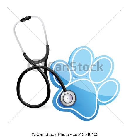 veterinarian concept with a Stethoscope illustration design... ...