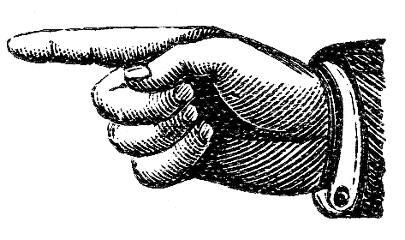 Victorian Clip Art u2013 Pointing Hands u2013 Steampunk