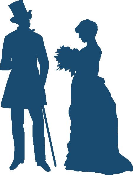 Victorian Couple Clip Art At Clker Com Vector Clip Art Online