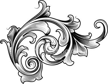Victorian Filigree Clipart #1