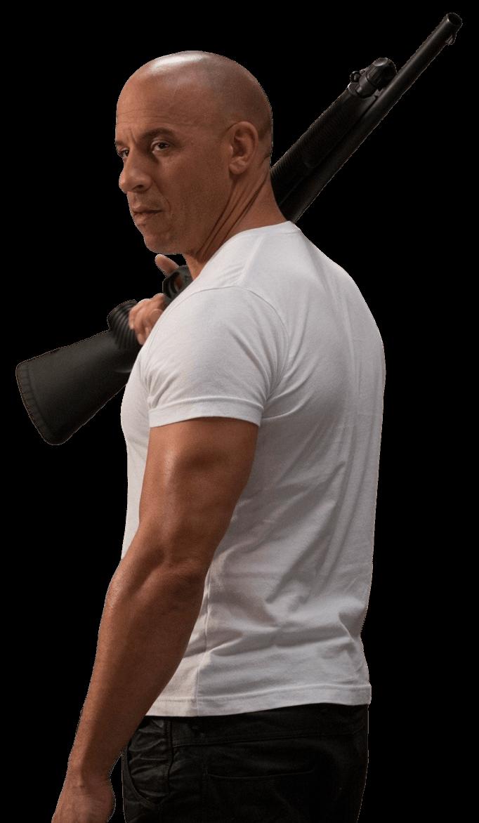 Holding Gun Vin Diesel