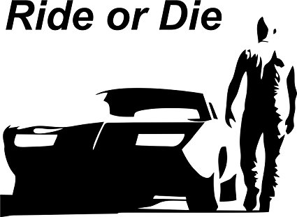 Shadow-Walls Small Vin Diesel-Ride or Die Vinyl Car Stickers For Sides,
