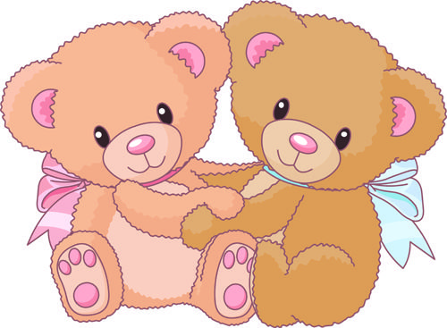 Vintage Bear Clip Art   Free EPS file Cute Teddy Bear vector Illustration 03 download