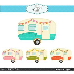 vintage caravan clip art car .