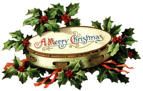 Vintage Christmas Jingle Bells Clipart