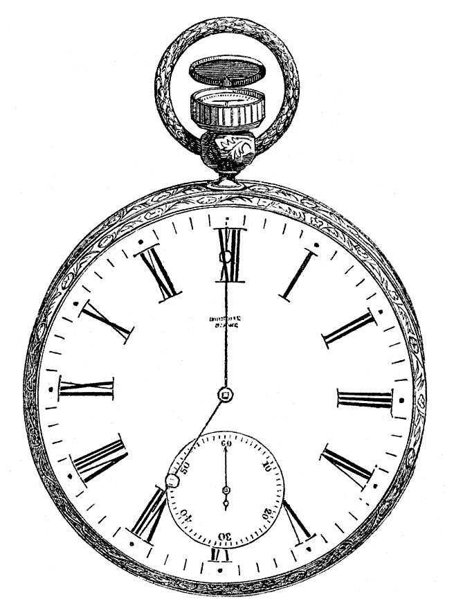 Vintage Clip Art u2013 Antique Pocket Watch