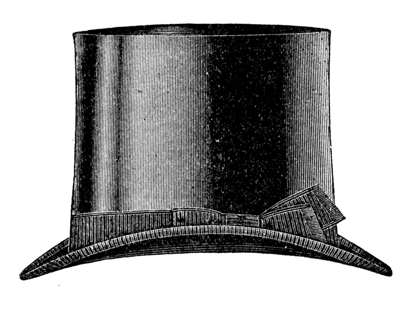 Vintage Clip Art u2013 Menu0027s Hats u2013 Derby u0026 Top Hat