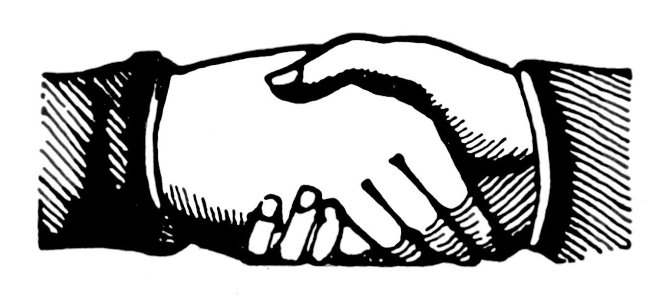 Vintage Clip Art u2013 Shaking Hands u2013 Victorian