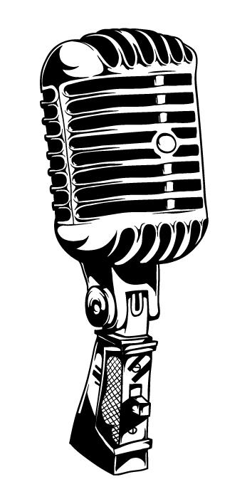 Vintage microphone clipart clipart kid