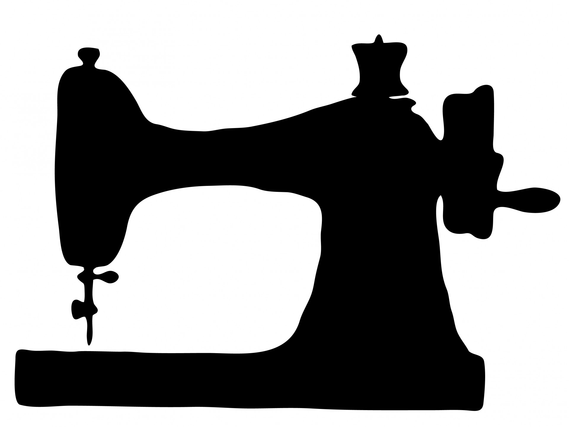 Vintage Sewing Machine Clipart Free Stock Photo