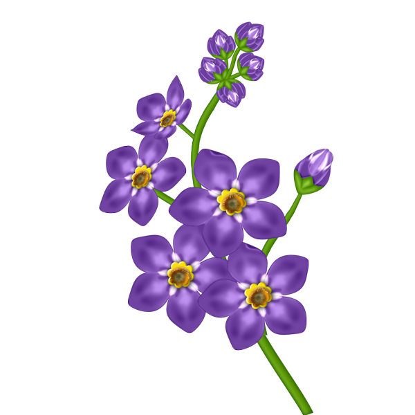 Violet Purple Flower Clip Art