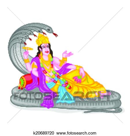 Clipart - Lord Vishnu. Fotosearch - Search Clip Art, Illustration Murals,  Drawings and