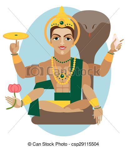 Vector Lord Vishnu