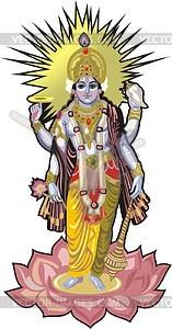 Vishnu - vector clip art