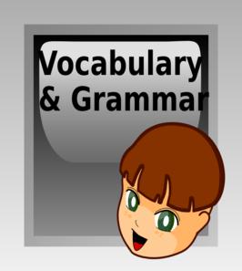 Vocabulary Button Clip Art