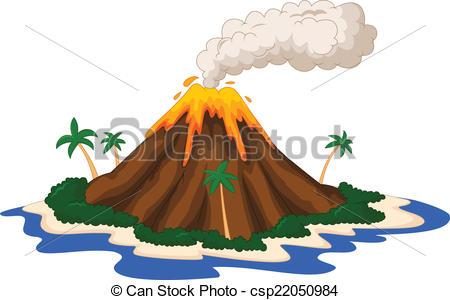 ... Volcanic island - vector illustration of Volcanic island