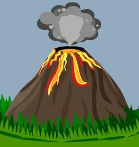 Volcano Clip Art Images Volcano Stock Photos Clipart Volcano