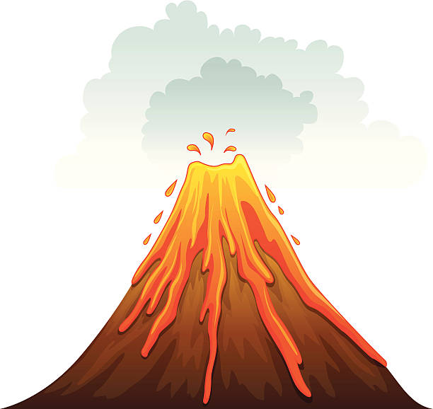 clipart volcano volcano clipart volcanic eruption pencil and in color volcano  clipart