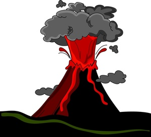 Volcano Clipart Image Volcano With Lava Shooting Out
