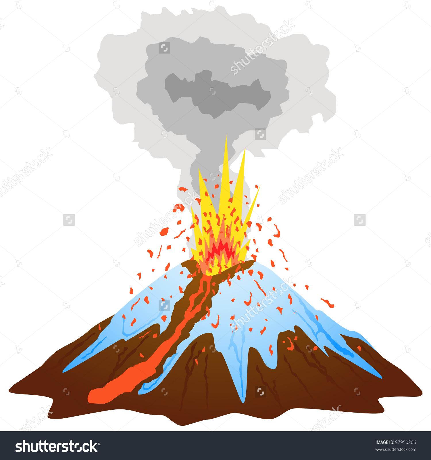 volcano clip art #36