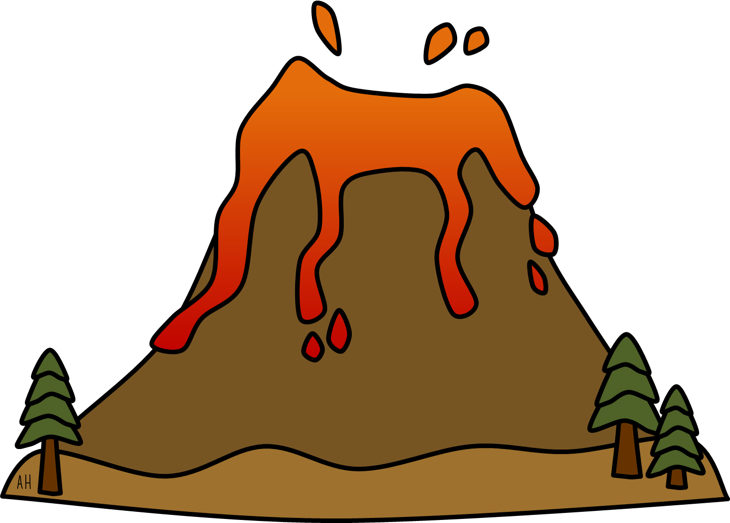 Volcano Clip Art Free Free Clipart Images