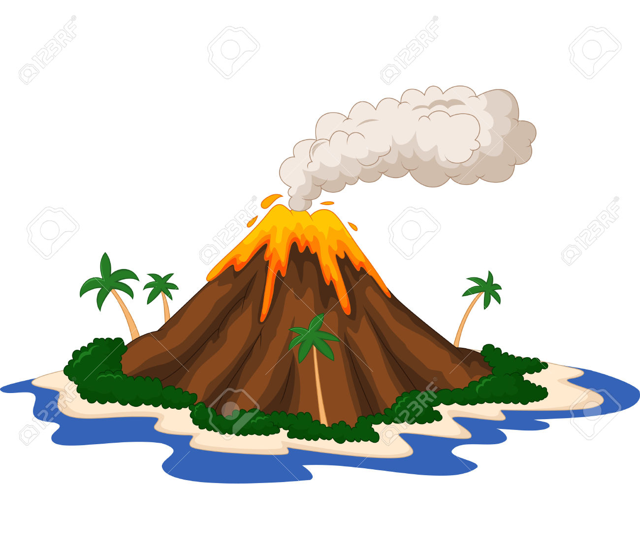 Volcano Clipart #5075