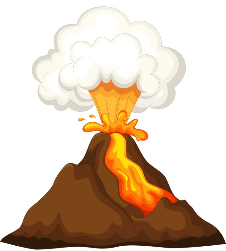 Volcano Clipart Volcano Clipart Ideas On Dinosaur Template Clipartpost  Animations