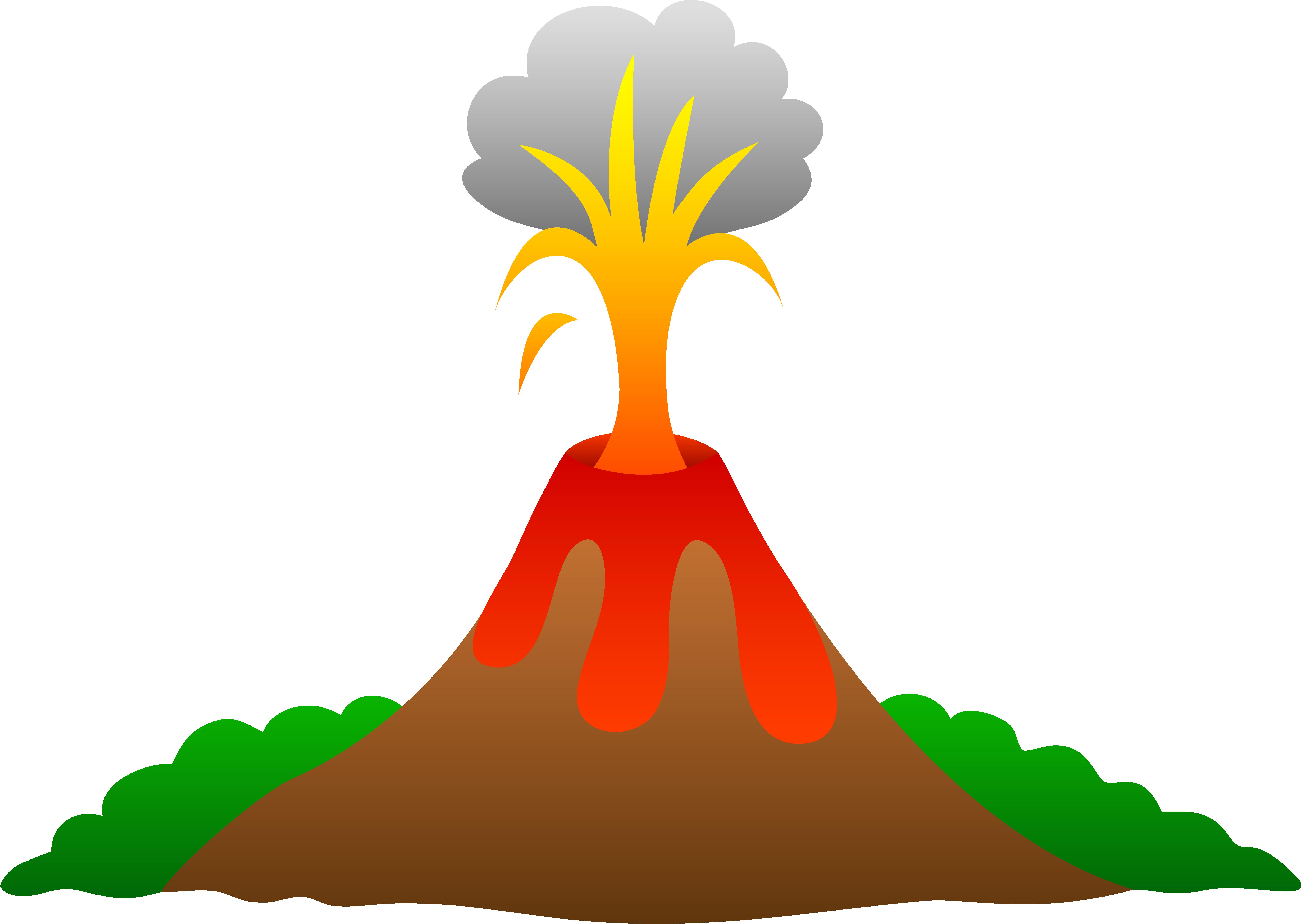 Volcano cliparts
