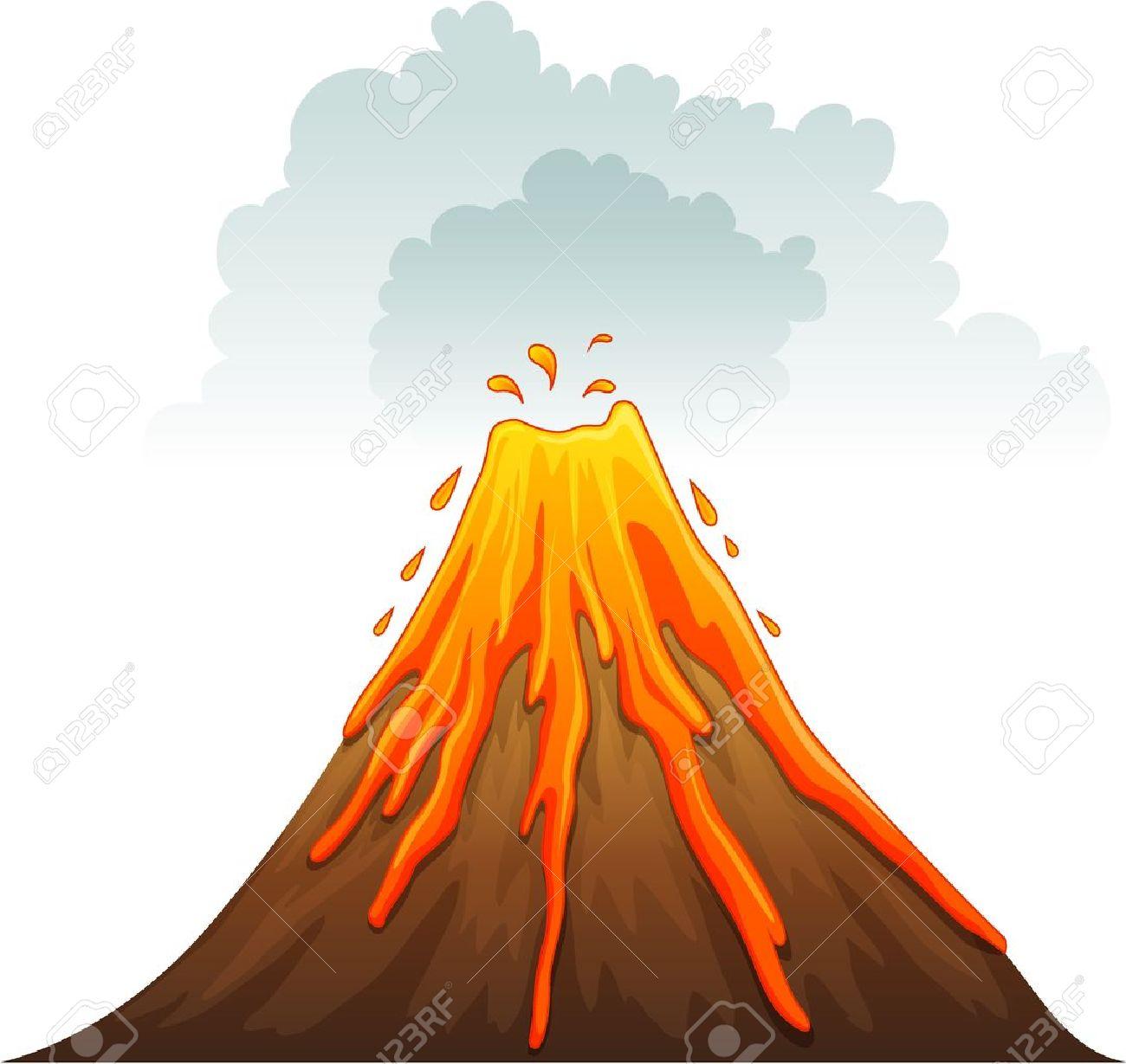 volcano: Illustration of a