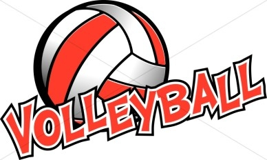 Volleyball Clipart Free .