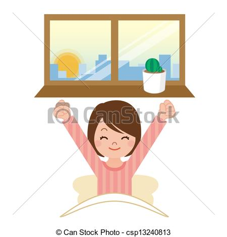Waking up clip art. Ability to wake up