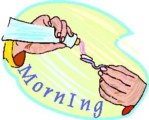 Waking up clip art