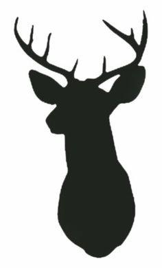 Wall Hugs Deer Silhouette Head .