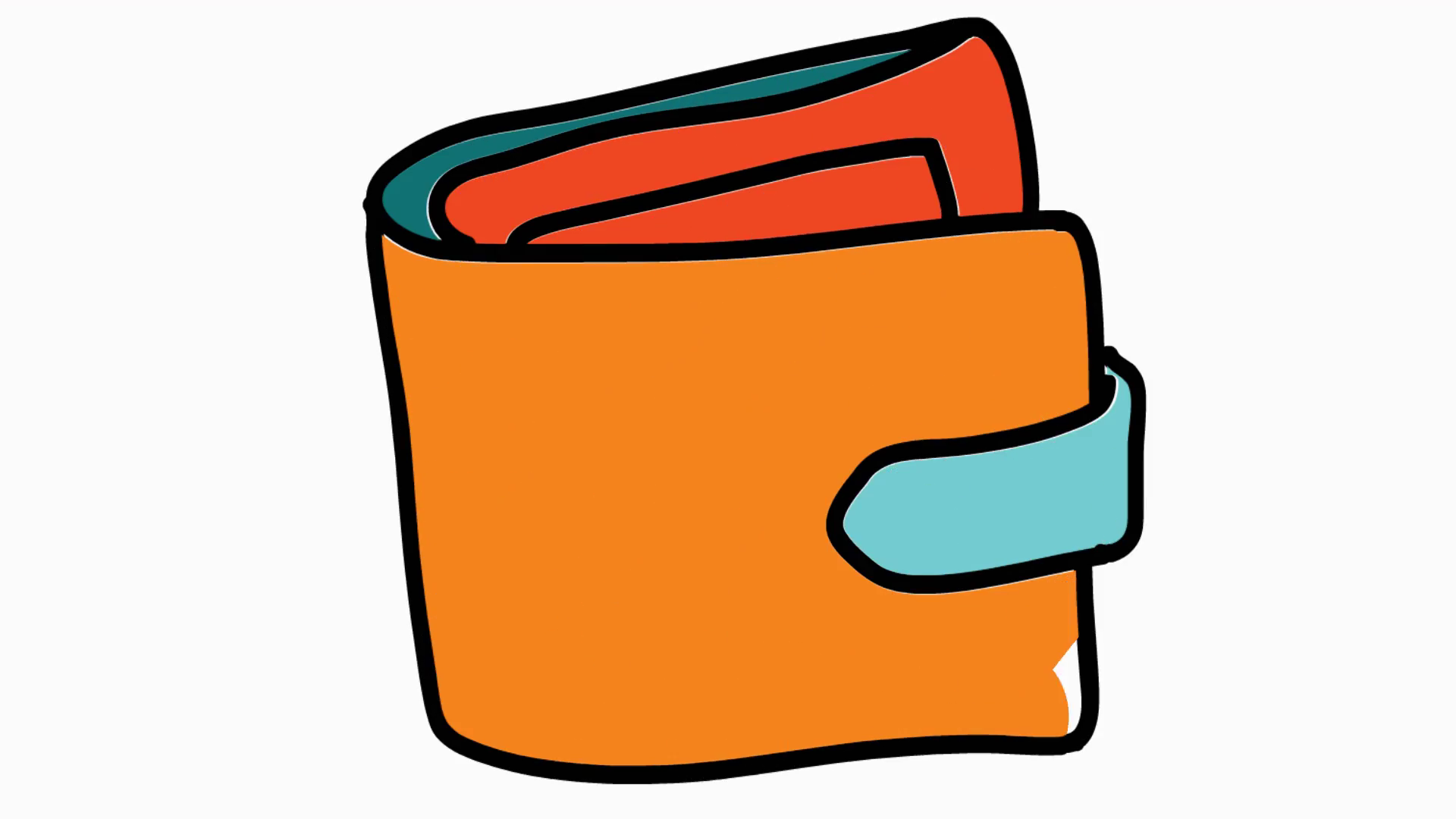 wallet icon cartoon illustration hand drawn animation transparent Motion  Background - VideoBlocks