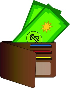 Wallet With Money Clipart #1