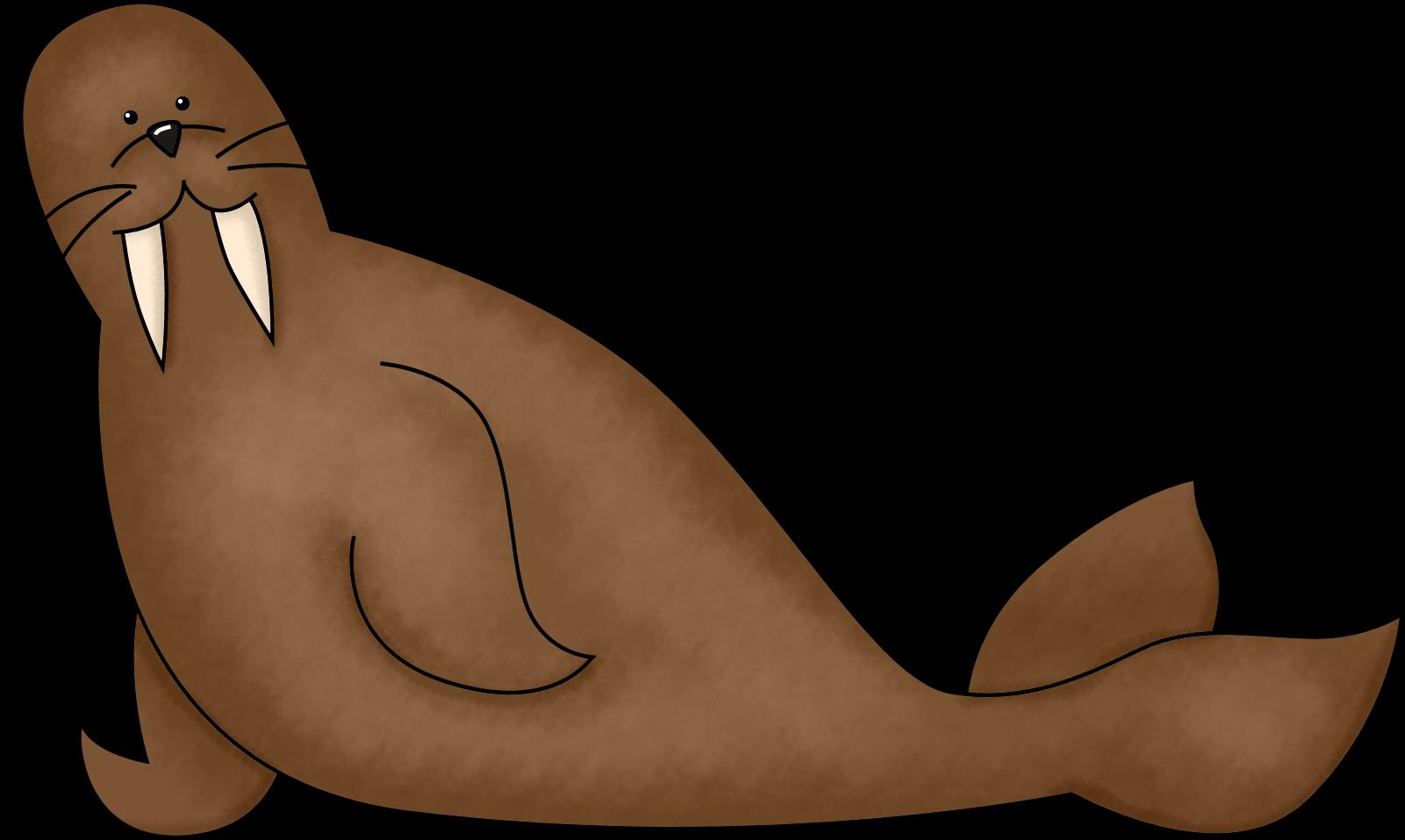 Brown Walrus Clipart