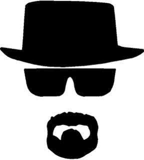 Breaking Bad Heisenberg Face Hat Chihuahua Car Sticker Window Vinyl Decal  Tablet PC Truck (5.5