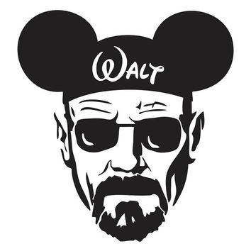 Breaking Bad Walter White Mickey Hat Decal Sticker